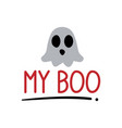 my boo brush hand lettering black on white vector image