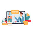 online conference distance education web courses vector image vector image