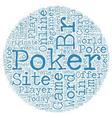 online poker site 1 text background wordcloud vector image vector image