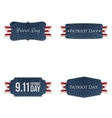 Patriot Day paper Badges Collection vector image