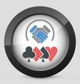 poker challenge vector image