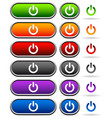 power buttons in different colors vector image vector image