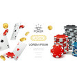 realistic casino colorful composition vector image vector image