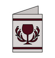 restaurant menu wine cup beverage vector image vector image