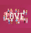 romantic couples in love vector image vector image
