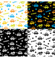seamless background with cars vector image