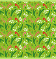seamless green pattern for winter christmas vector image vector image