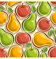 seamless pattern apples and pears vector image