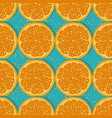 seamless pattern oranges vector image vector image