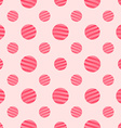 Seamless Pink Dots Background Pattern vector image vector image