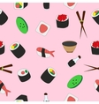 seamless texture of tasty Japanese food vector image vector image