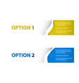 Set of torn off Sample option stickers vector image vector image