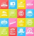 Set Summer Holidays Labels Design Elements vector image vector image
