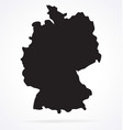 simplified germany deutschland map silhouette vector image