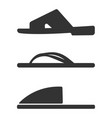 slippers icon set simple set of slippers icons vector image vector image