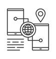 smartphone gps navigation linear icon vector image