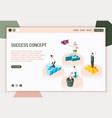 success stories landing page vector image