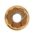 sweet donut dessert kawaii cute cartoon vector image vector image