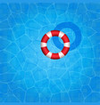 swimming pool with rubber ring floating on it vector image