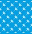 tools repair pattern seamless blue vector image
