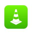 traffic cone icon digital green vector image vector image