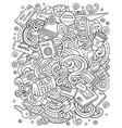 travel hand drawn doodles vector image vector image