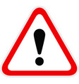 triangular red warning hazard symbol vector image