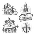 vacation logo with cyclist vector image vector image