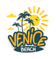 venice beach los angeles california label sig vector image vector image