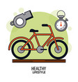 white background poster of healthy lifestyle with vector image vector image