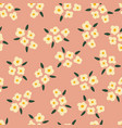 white flowers on rose pink seamless vector image