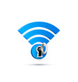 wifi key protect sign icon vector image