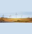 wind turbine energy renewable station nature vector image vector image