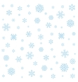 Background with blue snowflakes vector image