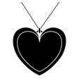necklace heart isolated icon vector image
