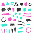set of grunge objects vector image