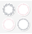 Fast food sticker templates collection Hand drawn vector image