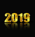 2019 new year brilliant inscription and its vector image vector image