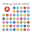 50 social media buble icons vector image