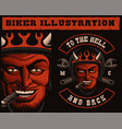 a devil biker vector image