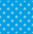 adventure badge pattern seamless blue vector image vector image