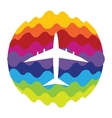 Airplane Rainbow Color Icon for Mobile vector image vector image