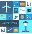 Airport Decorative Icons Set vector image vector image