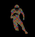 american football player action sportsman player vector image vector image