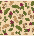 autumn seamless pattern with leaf autumn leaf vector image vector image