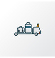 baggage transfer icon colored line symbol premium vector image