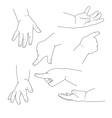 bahand different gestures vector image