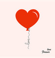 balloon heart shaped with text love forever vector image vector image