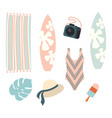 beach holiday design elements summer vector image