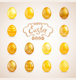 big set of easter eggs vector image vector image